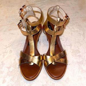 Matt Bernson Gold Metallic Sandals
